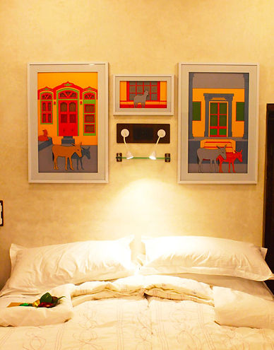 Tarasha artwork Mangaldas ni Haveli II boutique hotel in Ahmedabad