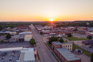 Downtown Pawhuska, Oklahoma - Drone Shot