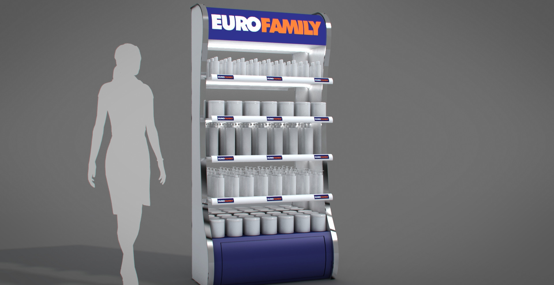 Eurofamily - kozmetikai display tervezés