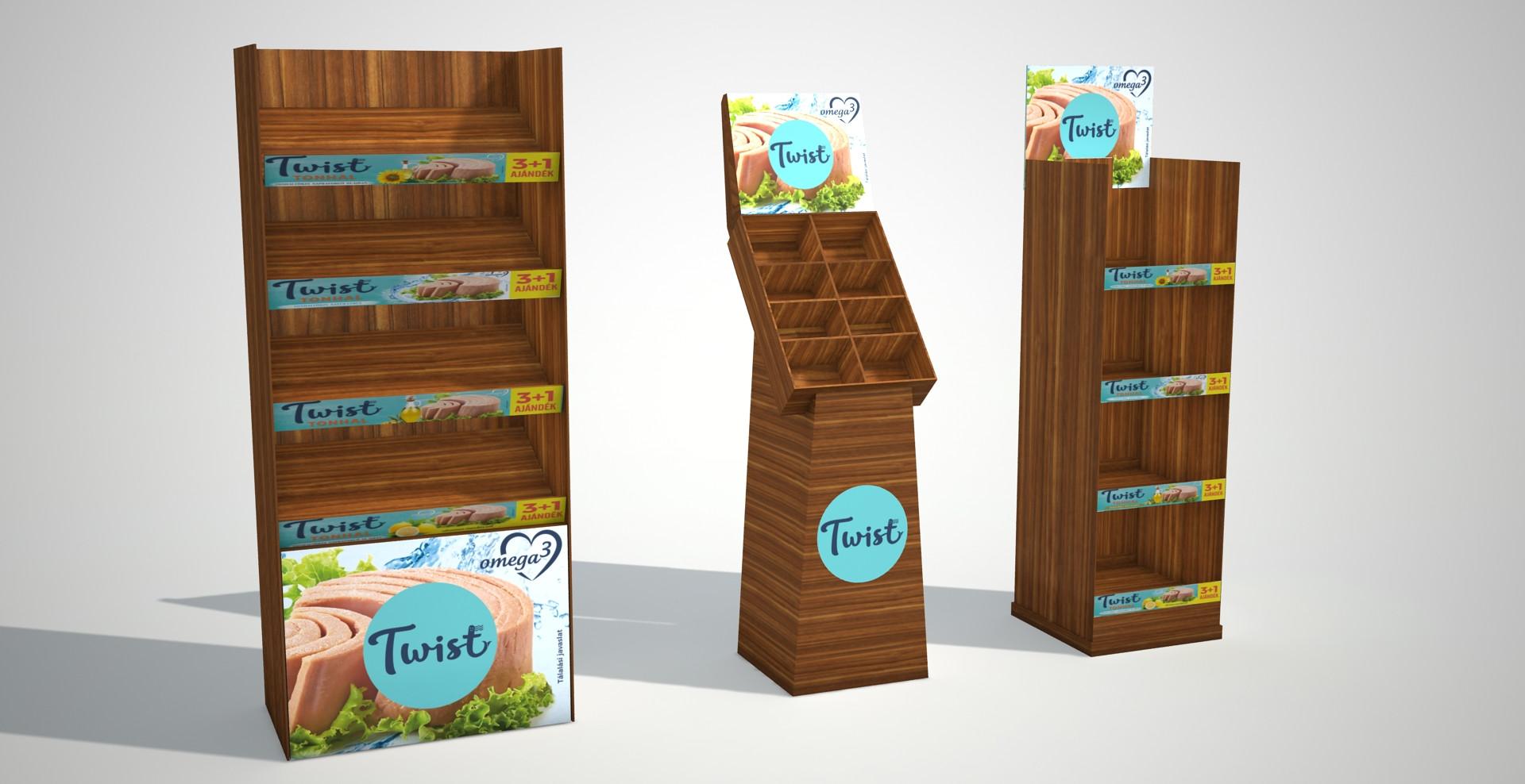 Twist - kínáló display tervezés