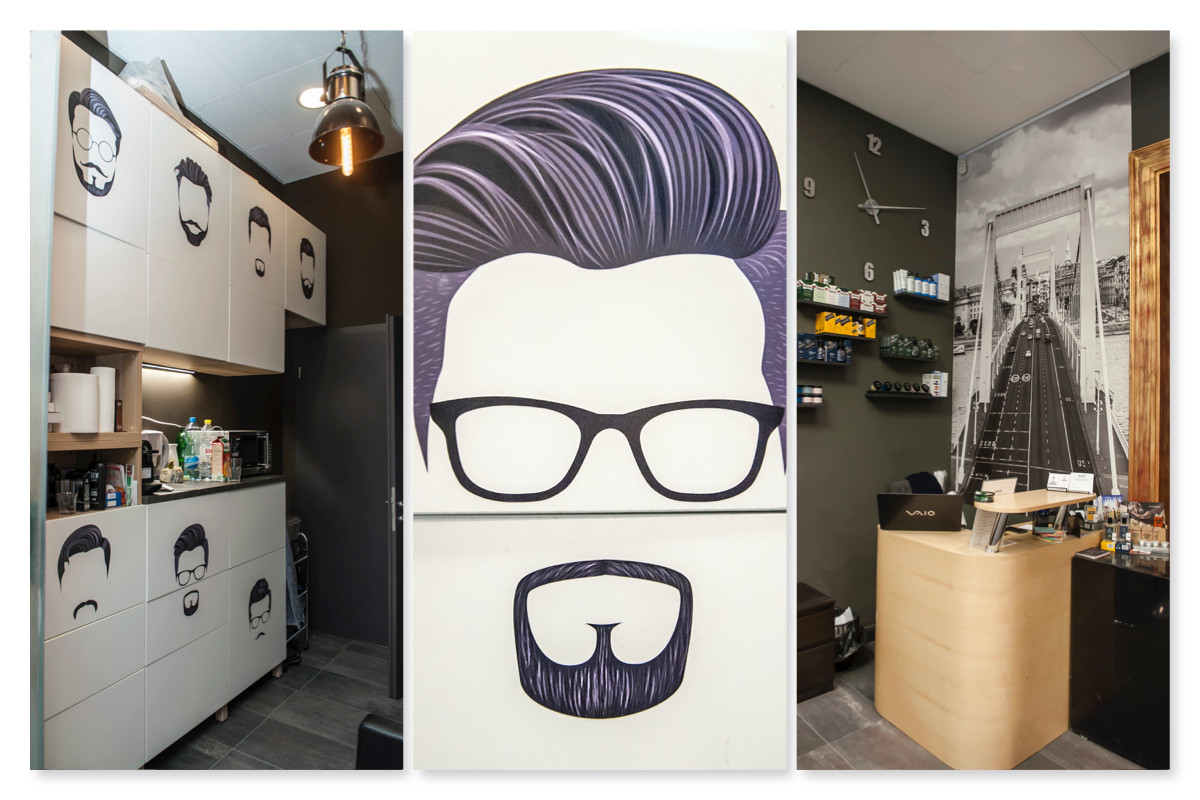 Dandy the barber - üzlet design