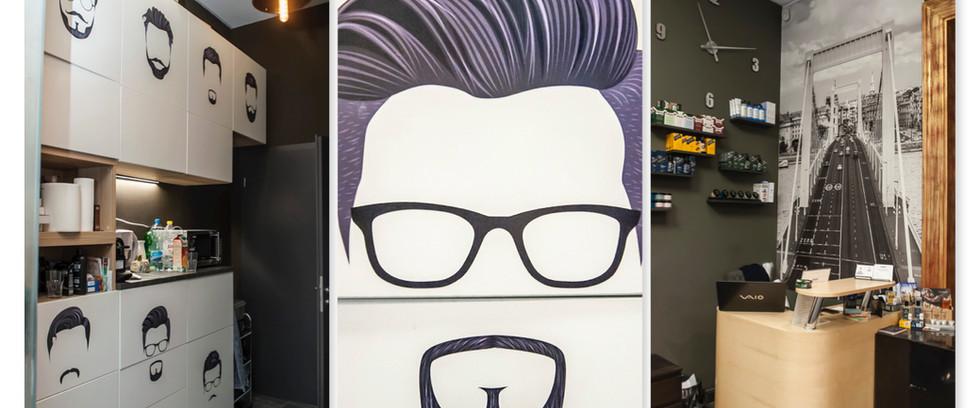 Dandy the barber - üzlet design
