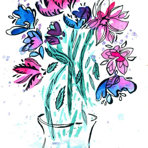 Floral splash 02