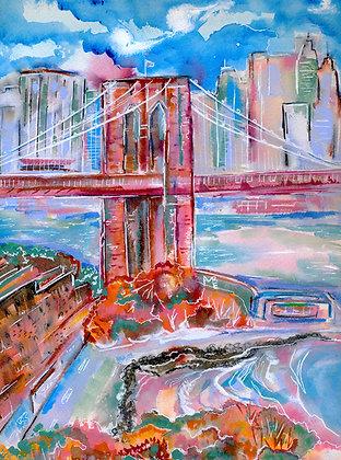 Autumn Under the Bridge print