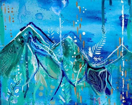 Fjellene Rain Print