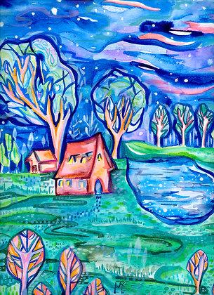 Cottage of Darkness Print