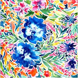 Blue Hawaii Floral