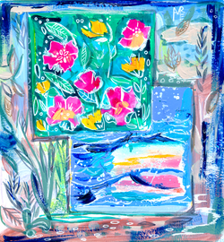 California Dreamin abstract web