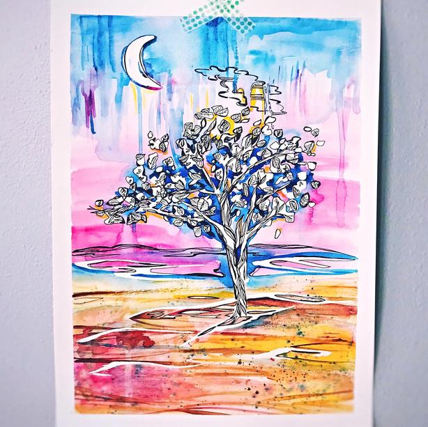 Desert Moon Tree