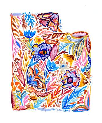 Floral Utah print