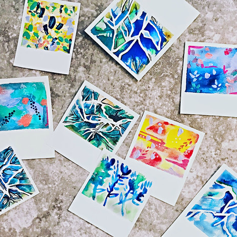 Watercolor Polaroids