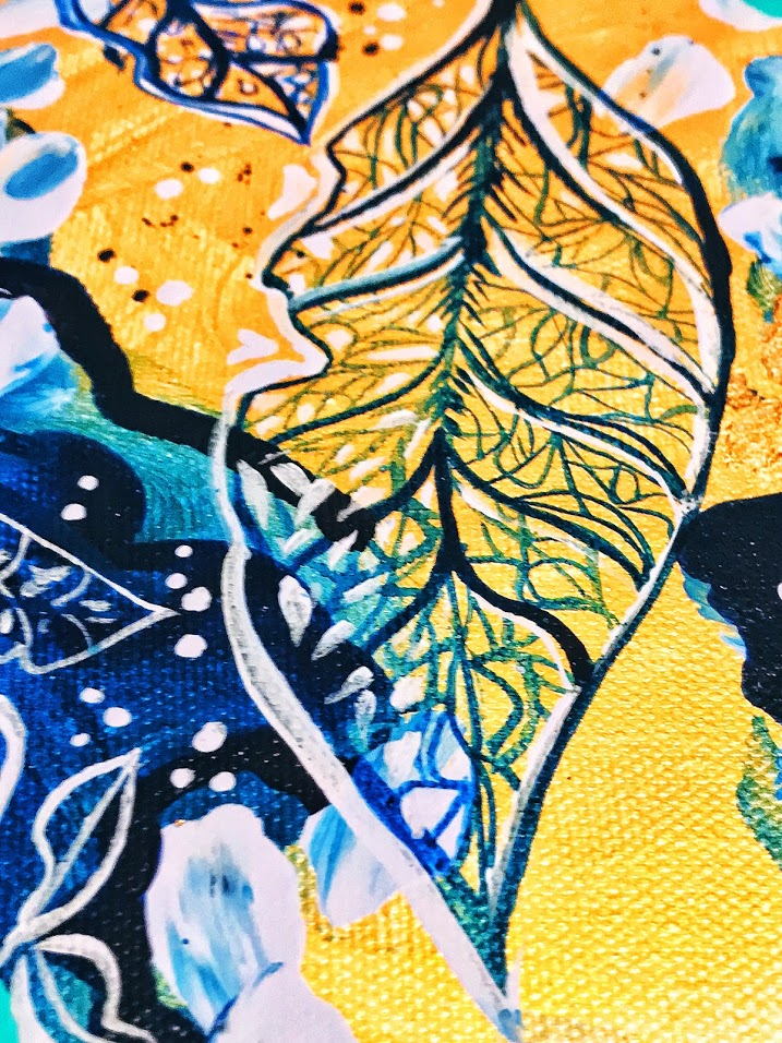 leaf-vein-painting