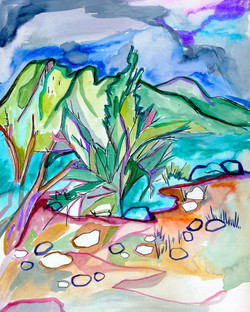 Twilight on the Desert  painting