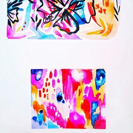 Abstract sketchbook floral