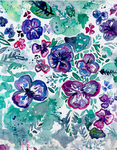 Puddle of Pansies screenshot for print s
