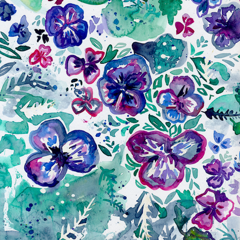Puddle of Pansies