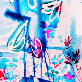 Abstract botanical drip