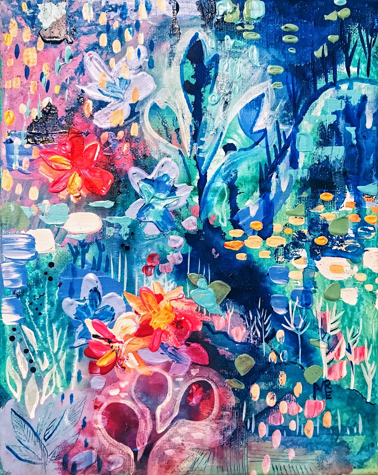 Abstract-botanical-fairy-painting