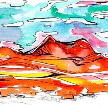 Timpanogos turquoise sky
