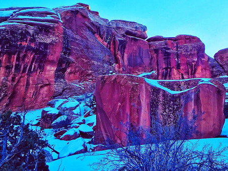 Snow-Dusted Red Rock