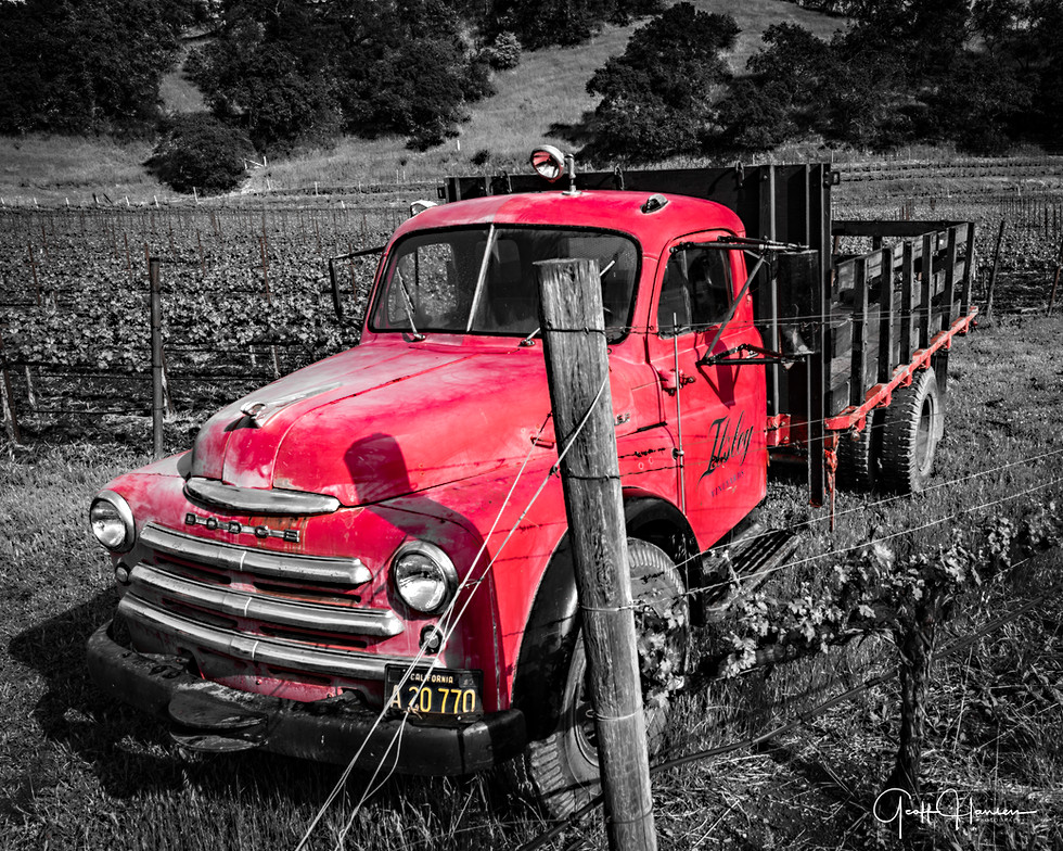 Red Vineyard Truck
