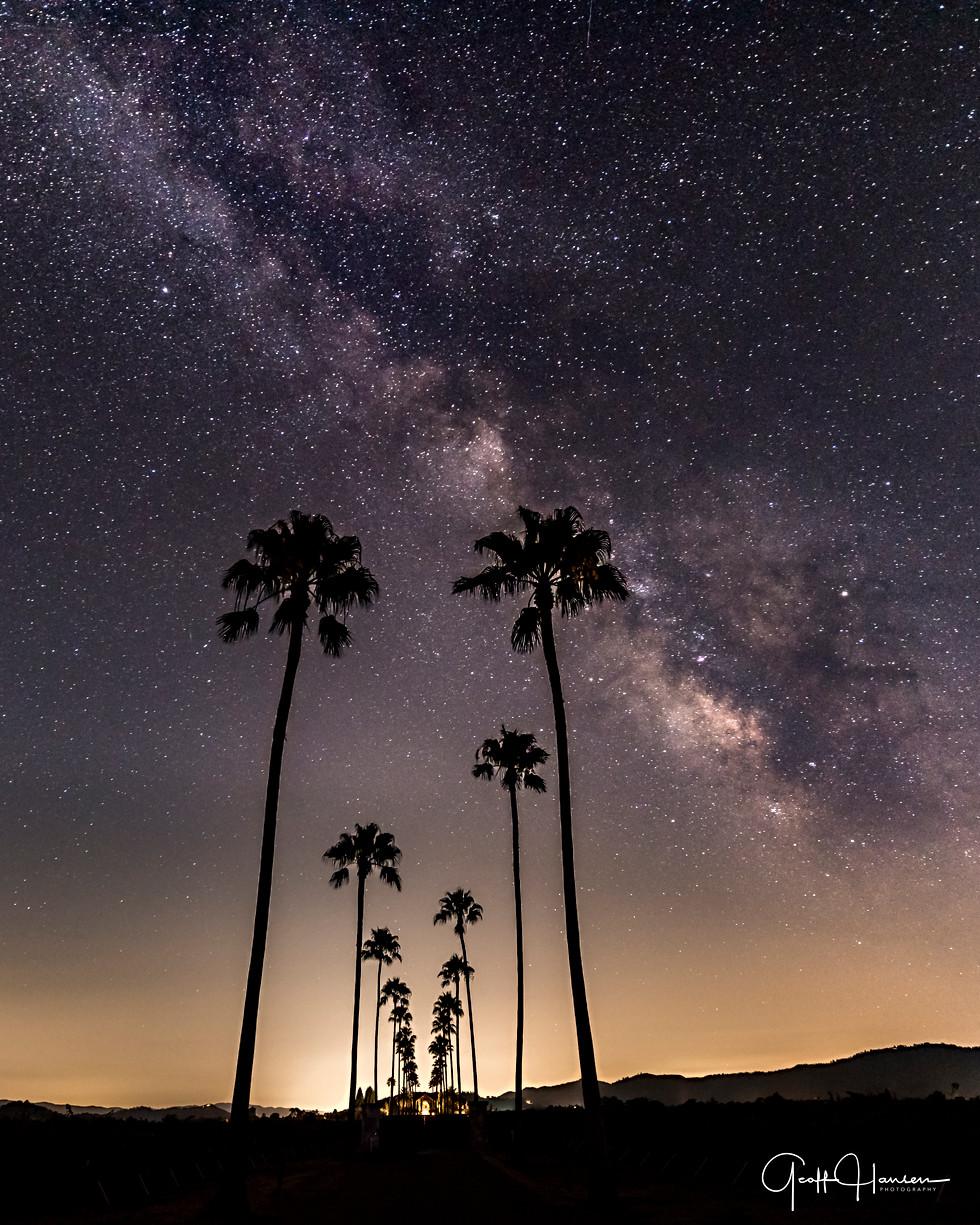 Milky Way over Napa Valley 2017