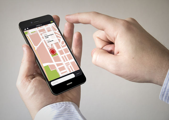 Navigation via Smart phone concept_ Clos