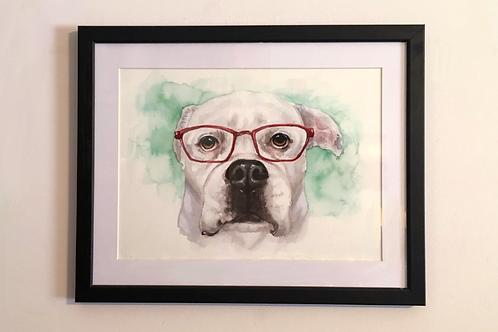 Framed Single Matte 9x12 Pet Portrait