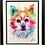Thumbnail: 9x12 Framed and Double Matte Colorful Watercolor Pet Portrait