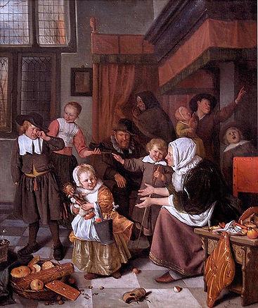 604px-Jan_Steen_–_Het_Sint-Nicolaasfeest