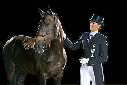 Odile Van Doorn Championne de France Dressage