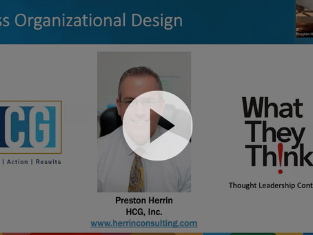 Assessing Organizational Design- Webinar