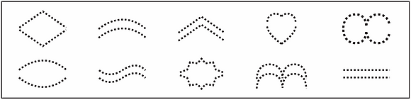 Various Dotted Patterns Thick Crimpers