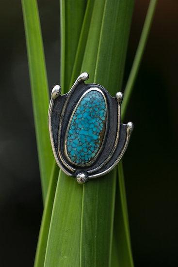 Lehua Turquoise Ring