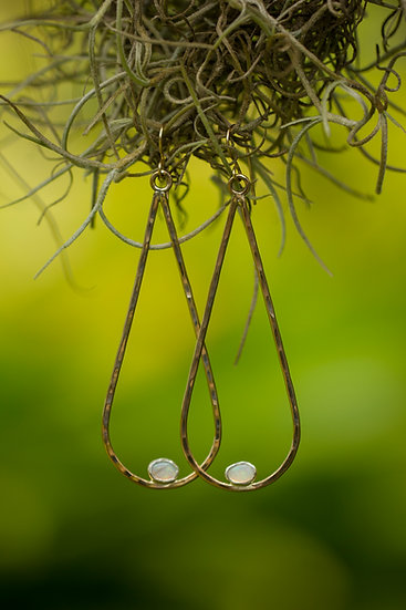 Opal Gold Teardrop earrings