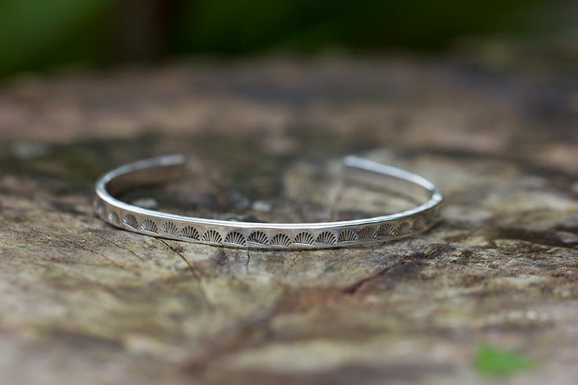 Stamped Sterling Silver Cuff