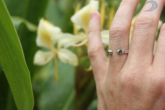 Emerald Horseshoe Ring
