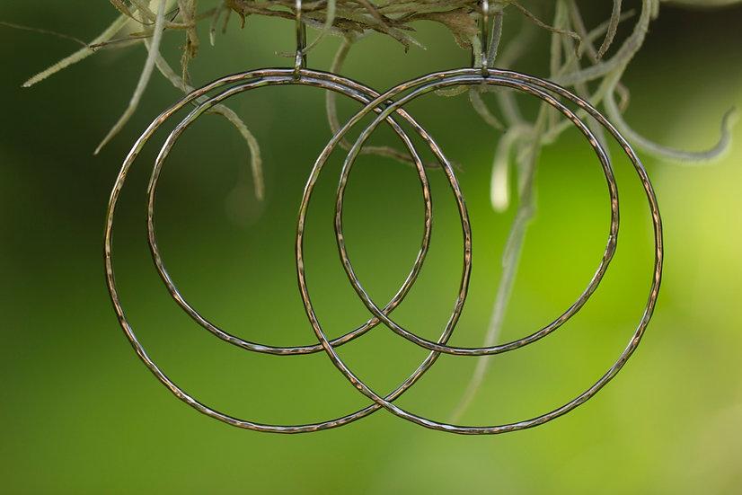 Oxidized Double Hoops