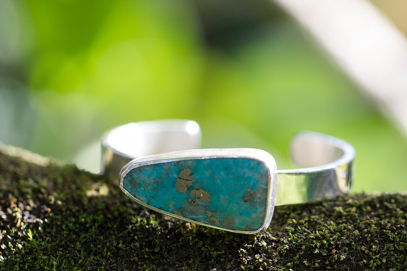 Campitos Turquoise with Pyrite Cuff