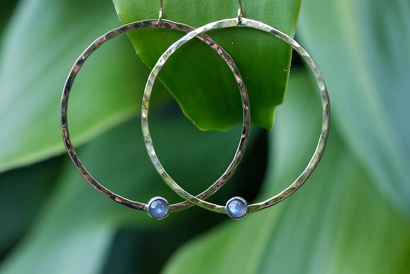 Gold Labradorite hoops RESERVED FOR TINA