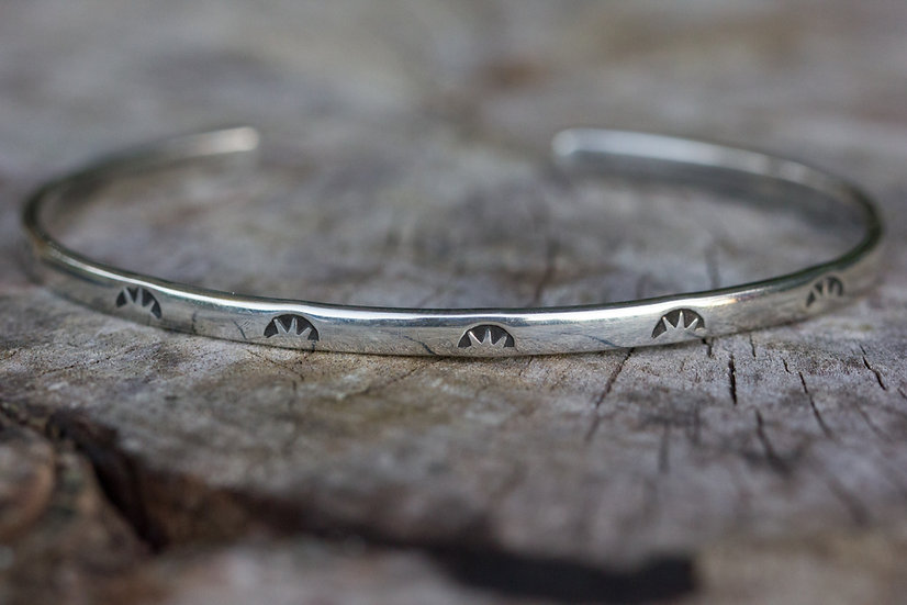 Sterling Silver Stamped Cuff