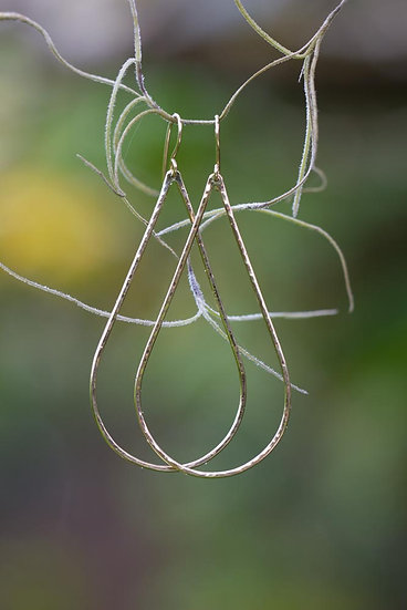 Thin Gold Teardrop Hoops