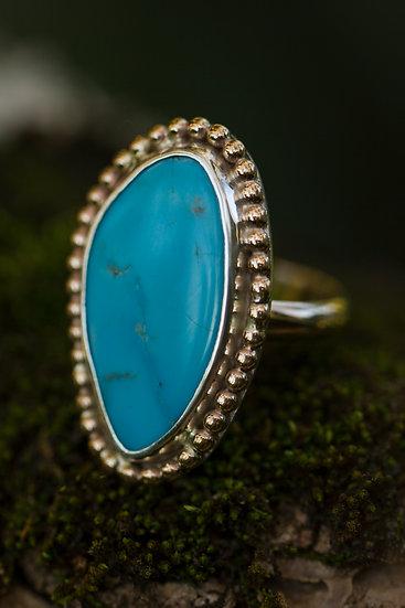 Sleeping Beauty Mixed Metal Ring