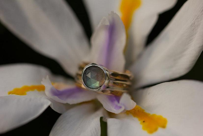Rosecut Labradorite custom ring