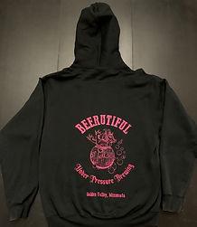 black-with-pink-beerutiful-zip-up-hoodie