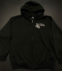 black-with-white-color-upb-zip-up-hoodie