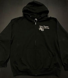black-with-white-color-upb-zip-up-hoodie