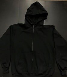 black-with-white-ubp-zip-up-hoodie-front