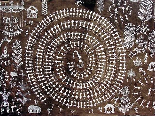 Example of Adivasi art.