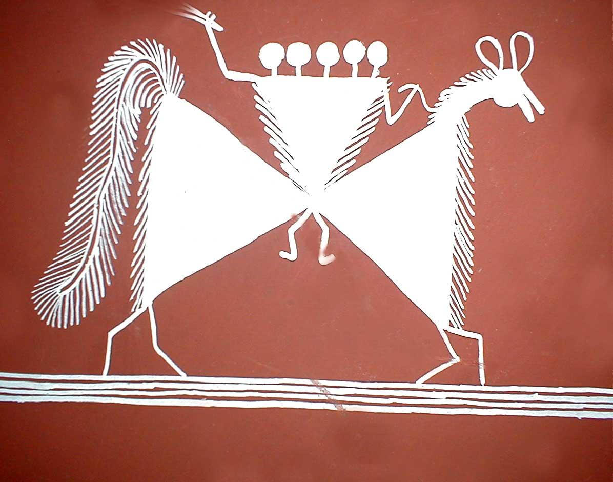 Example of Warli Art (Warli horse)